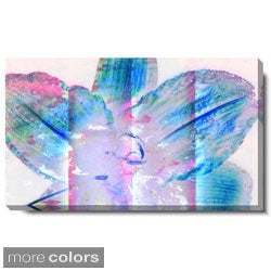 Studio Works Modern 'Snow Flower - Blue or Red' Gallery Wrapped Canvas