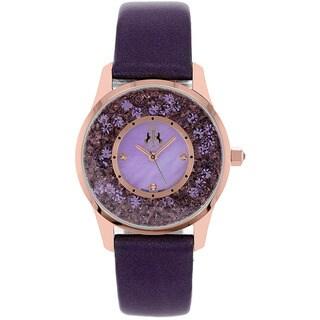 Jivago Women's Brilliance Leather Strap Watch