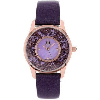 Jivago Women's Brilliance Leather Strap Watch