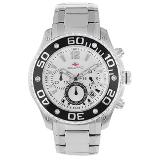 Seapro Men's Celtic Chronograph Watch with White Dial and Black Markers
