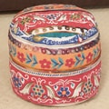 Christopher Knight Home Earvin Cotton Embroidered Pouf Ottoman