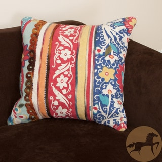 Christopher Knight Home Rafael Multi-colored Embroidered Cotton Pillow