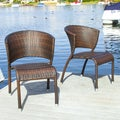 Christopher Knight Home Tampa Brown Outdoor Wicker Chairs (Set of 2)