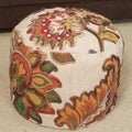 Christopher Knight Home Octavian Cotton Embroidered Pouf Ottoman