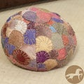 Christopher Knight Home Sabrina Multi-Colored Wool Pouf Ottoman