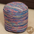 Christopher Knight Home Dalila Multi-Colored Pouf Ottoman