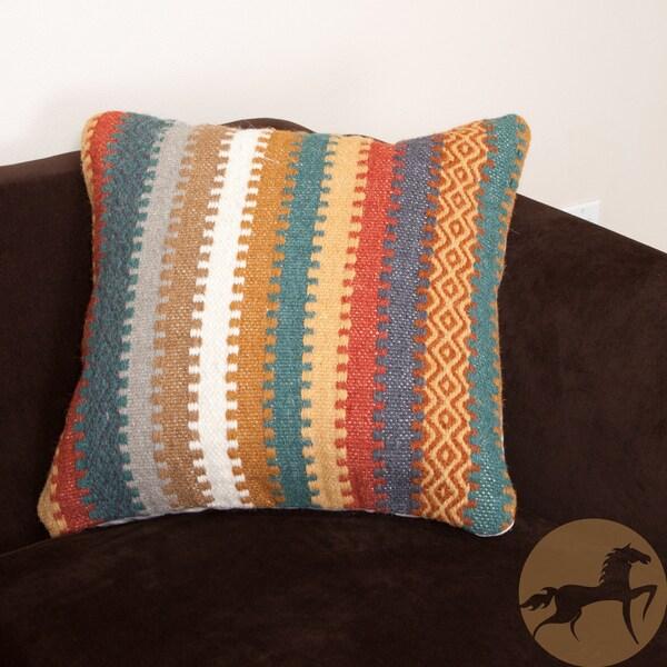 Christopher Knight Home Gabriela Wool Stripe Pillow