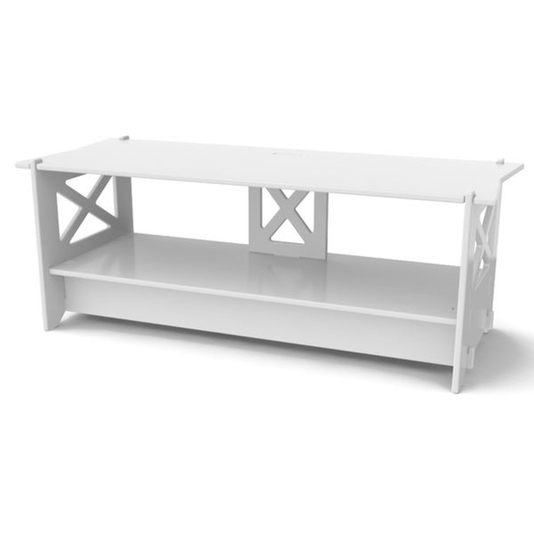 "Legare 48"" x 19"" Media Stand, Ivory"