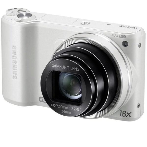 Samsung WB200F WiFi 16.4MP White Smart Digital Camera