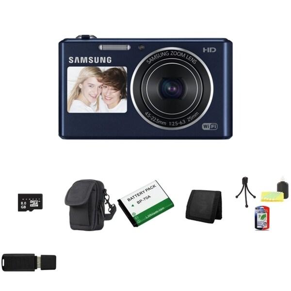 Samsung DV150F Dual View Smart Colbalt Black Digital Camera 8GB Bundle