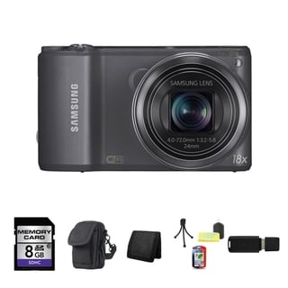 Samsung WB250F Smart 14.2MP Gun Metal Digital Camera 8GB Bundle