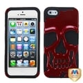 BasAcc Red/ Black Skullcap Hybrid Case for Apple iPhone 5