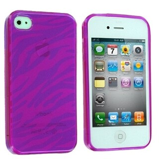 BasAcc Purple Zebra Candy Skin Case for Apple iPhone 4/ 4S