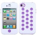 BasAcc White/ Electric Purple TUFF Hybrid Case for Apple iPhone 4S/ 4