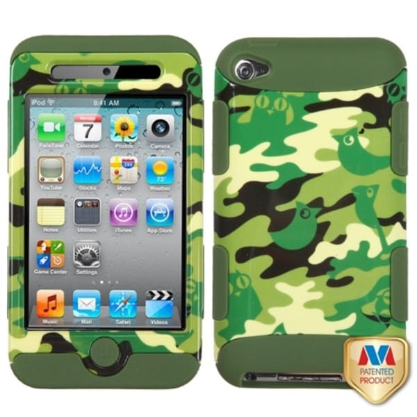 BasAcc Camo/ Army Green TUFF Hybrid Case for Apple iPod touch 4