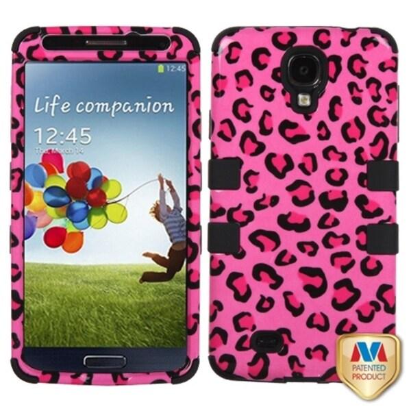 INSTEN Leopard/ Black TUFF Hybrid Phone Case Cover for Samsung Galaxy S4 i9500