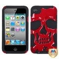 BasAcc Red/ Black/ Skull Cap Hybrid Case for Apple iPod touch 4