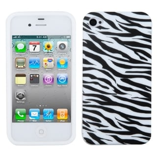 BasAcc Zebra Skin Case for Apple iPhone 4S/ 4