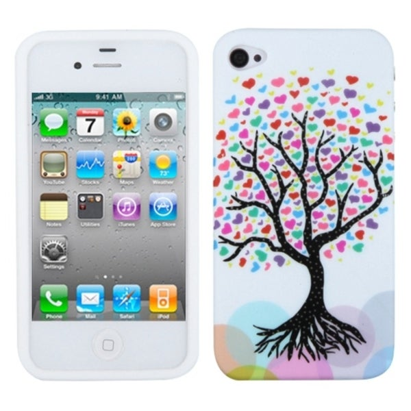 INSTEN Love Tree Skin Phone Case Cover for Apple iPhone 4S/ 4