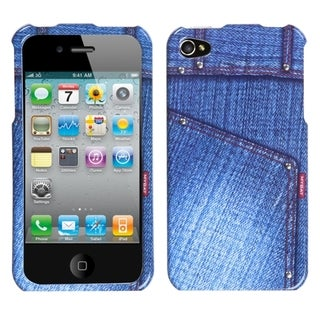 BasAcc Blue Jeans/ Studs Case for Apple iPhone 4S/ 4