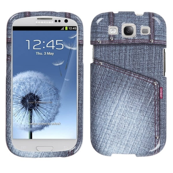 INSTEN Black Jeans/ Studs Phone Case Cover for Samsung Galaxy S III i747/ L710 11579308