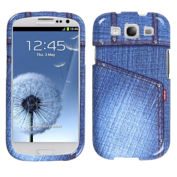 INSTEN Blue Jeans/ Studs Phone Case Cover for Samsung Galaxy S III i747/ L710 11579309
