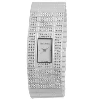 Haurex Women's 'Honey' White PVD Stainless Steel Crystal Watch
