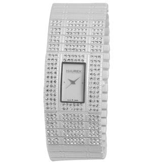 Haurex Women's 'Honey' White PVD Stainless Steel Crystal Watch