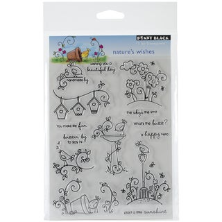 "Penny Black Clear Stamps 5""X6.5"" Sheet-Nature's Wishes"