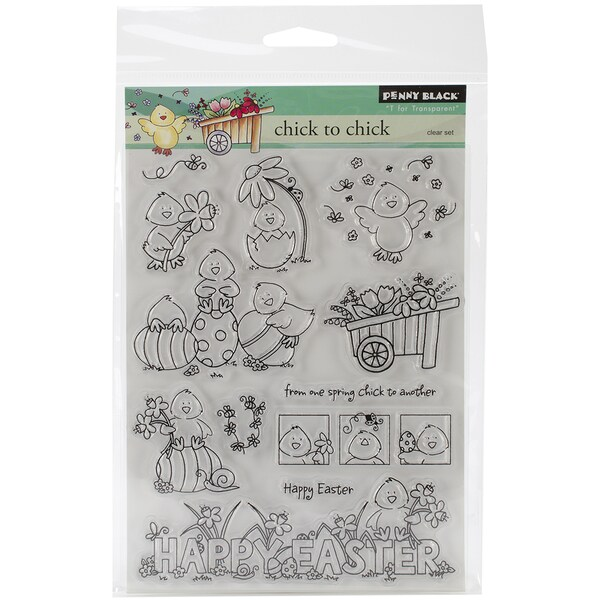 """Penny Black Clear Stamps 5""""X6.5"""" Sheet-Chick To Chick"""