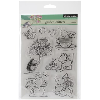 "Penny Black Clear Stamps 5""X6.5"" Sheet-Garden Critters"