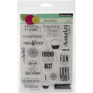 "Penny Black Clear Stamps 5""X6.5"" Sheet-Friendship"