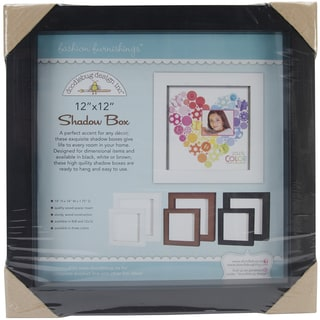 Fashion Furnishings Shadow Box 12X12in-Black