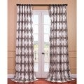 Sorong Grey Printed Cotton Pole Pocket Curtain Panel
