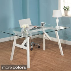 Simple Living Allyson Glass Top Table