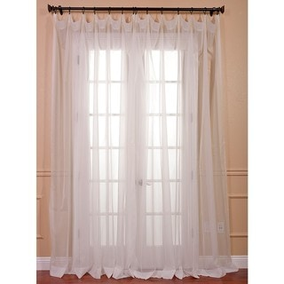 Off White Doublewide Poly Voile Sheer Panel