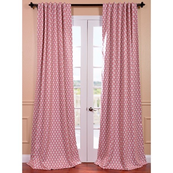 Casablanca Rose Rod Pocket Blackout Curtain Panel