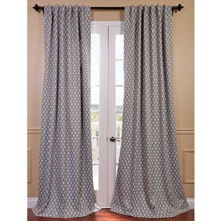 EFF Casablanca Aqua/ Beige Pole Pocket Blackout Curtain Panel
