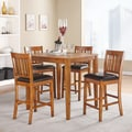 Devlin Mission Oak 36-inch Square 5-piece Counter-height Dining Set