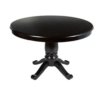 Alexa Espresso Round Pedestal Dining Table