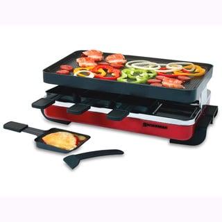 Swissmar KF-77043 Red Enamel/ Black 8-person Classic Raclette Party Grill