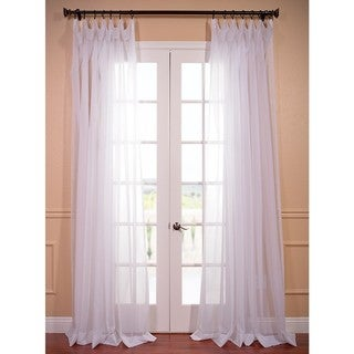 EFF Extra Wide White Poly Voile Sheer Curtain Panel