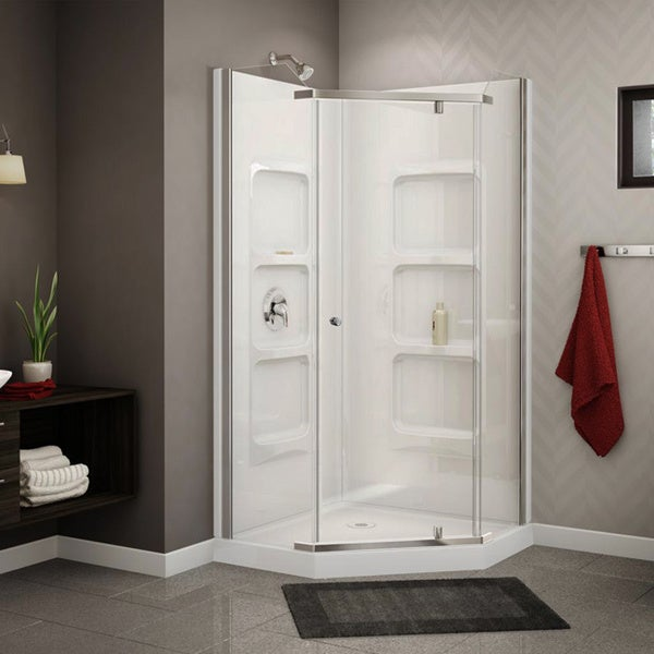 DreamLine Infinity Z Sliding Shower Door Shower Base And Backwall Kit