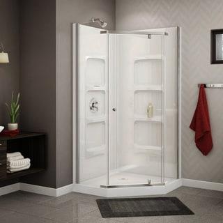 Nevada 38-inch Pure Acrylic Neo-Angle Corner Shower Stall