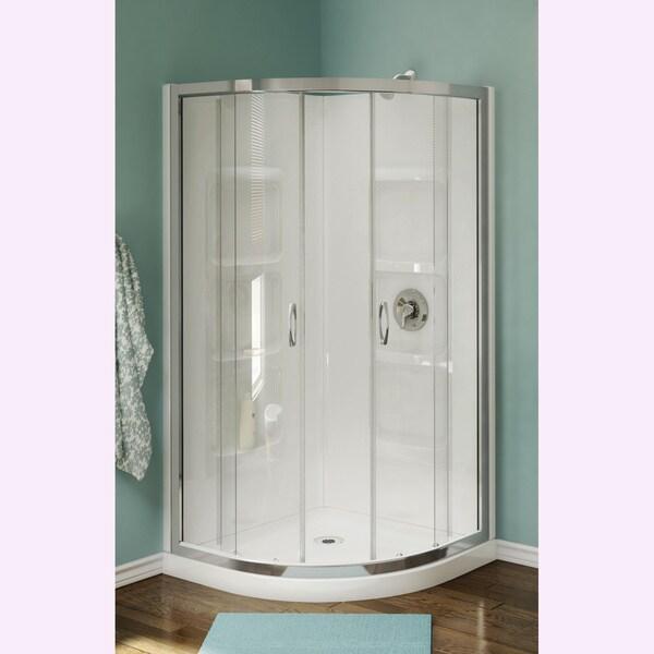 Nevada 38-inch Pure Acrylic Neo-Round Corner Shower Stall