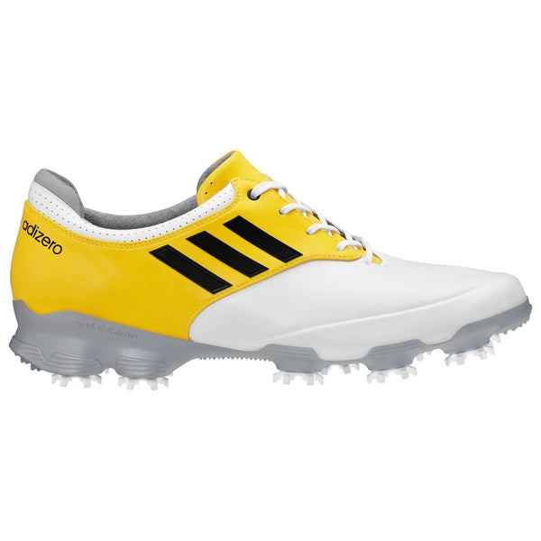 Adidas Men's Adizero Tour White/ Yellow Golf Shoes
