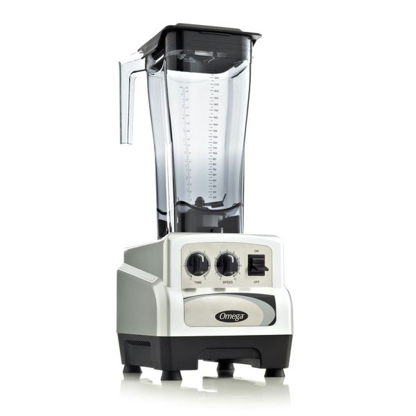 Omega Silver 82-ounce Variable Speed Commercial Blender with Timer