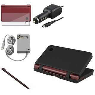 BasAcc Charger+Stylus+Case+Screen Film for Nintendo DSi LL/XL