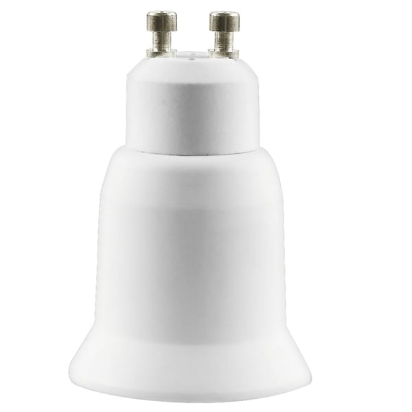 INSTEN White LED Light GU10 to E27 Plug Adapter (Pack of 2)
