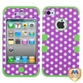 BasAcc Dots/ Electric Green TUFF Hybrid Case for Apple� iPhone 4/ 4S